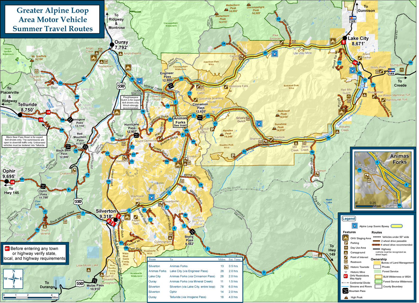 Alpine Loop Map 1